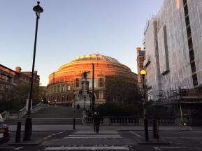 Sunset over the Royal Albert Hall