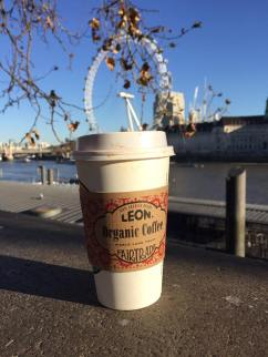 LEON hot chocolate and the London Eye