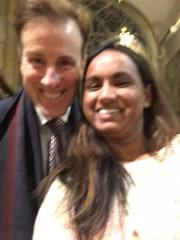 One of the rather blurry selfies of Anton Du Beke and I.